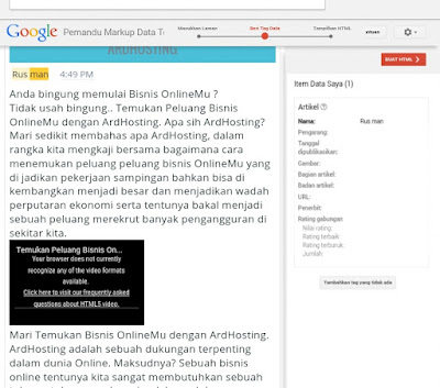 pilih Pemandu Markup Data Terstruktur di webmaster