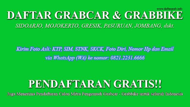 Cara Daftar Grabcar Grabbike Sidoarjo Gresik