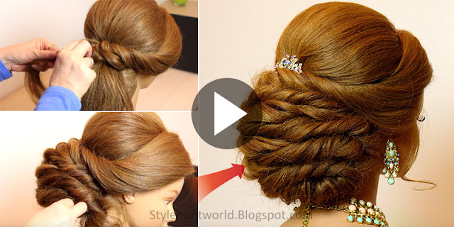 Learn - How To Make Easy Bridal Prom Hairstyle, See Tutorial