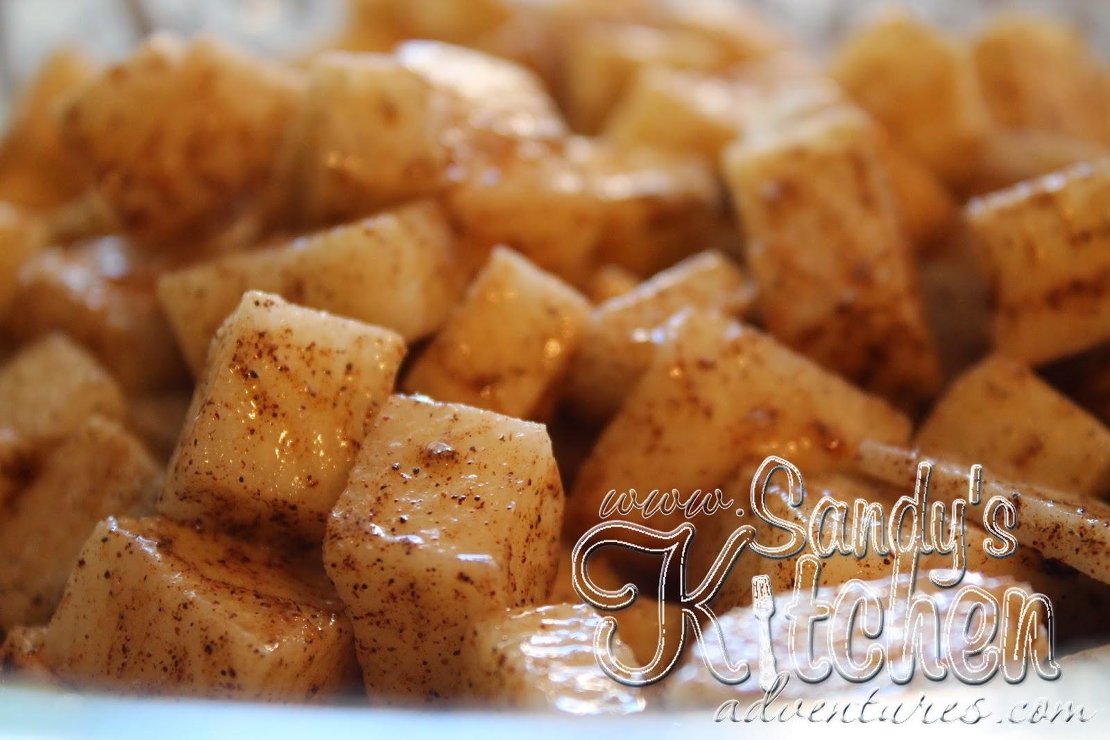 Baked Cinnamon Jicama Apples Sandy S Kitchen