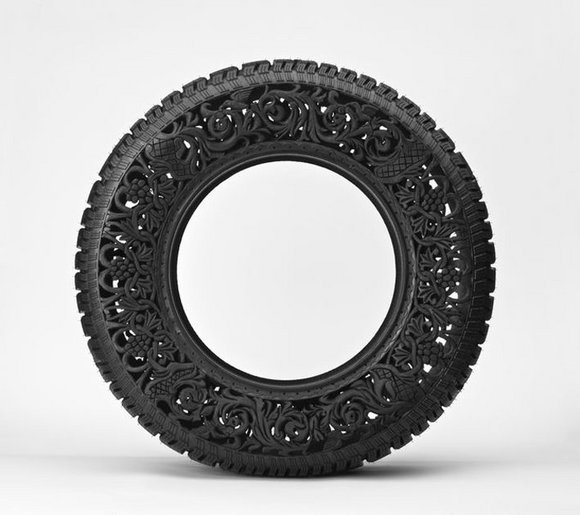 Dishfunctional Designs Upcycled Amp Recycled Tires Art