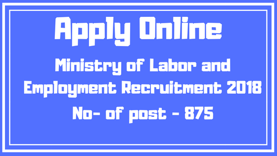 Ministry of Labor and Employment Recruitment 2018