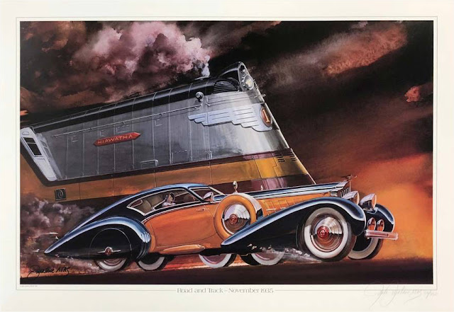 Road and Track November 1935 Duesenberg print by Jack Juratovic