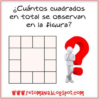 ¿Cuántos cuadrados hay?, Número total de cuadrados, Encuentra cuántos cuadrados hay