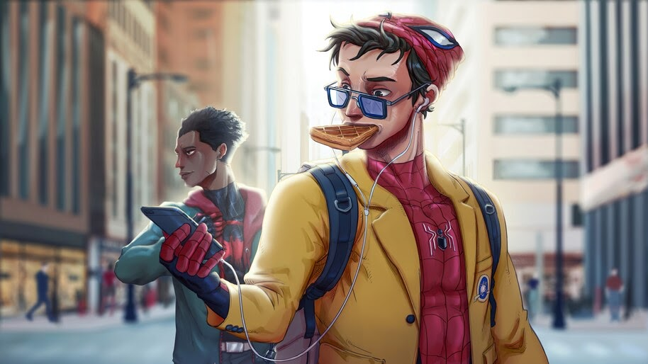 Spider-Man, Peter Parker, Miles Morales, 4K, #6.1989