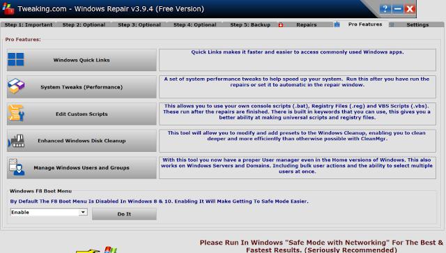 تحميل برنامج اصلاح مشاكل الكمبيوتر Tweaking.com Windows Repair 4.0
