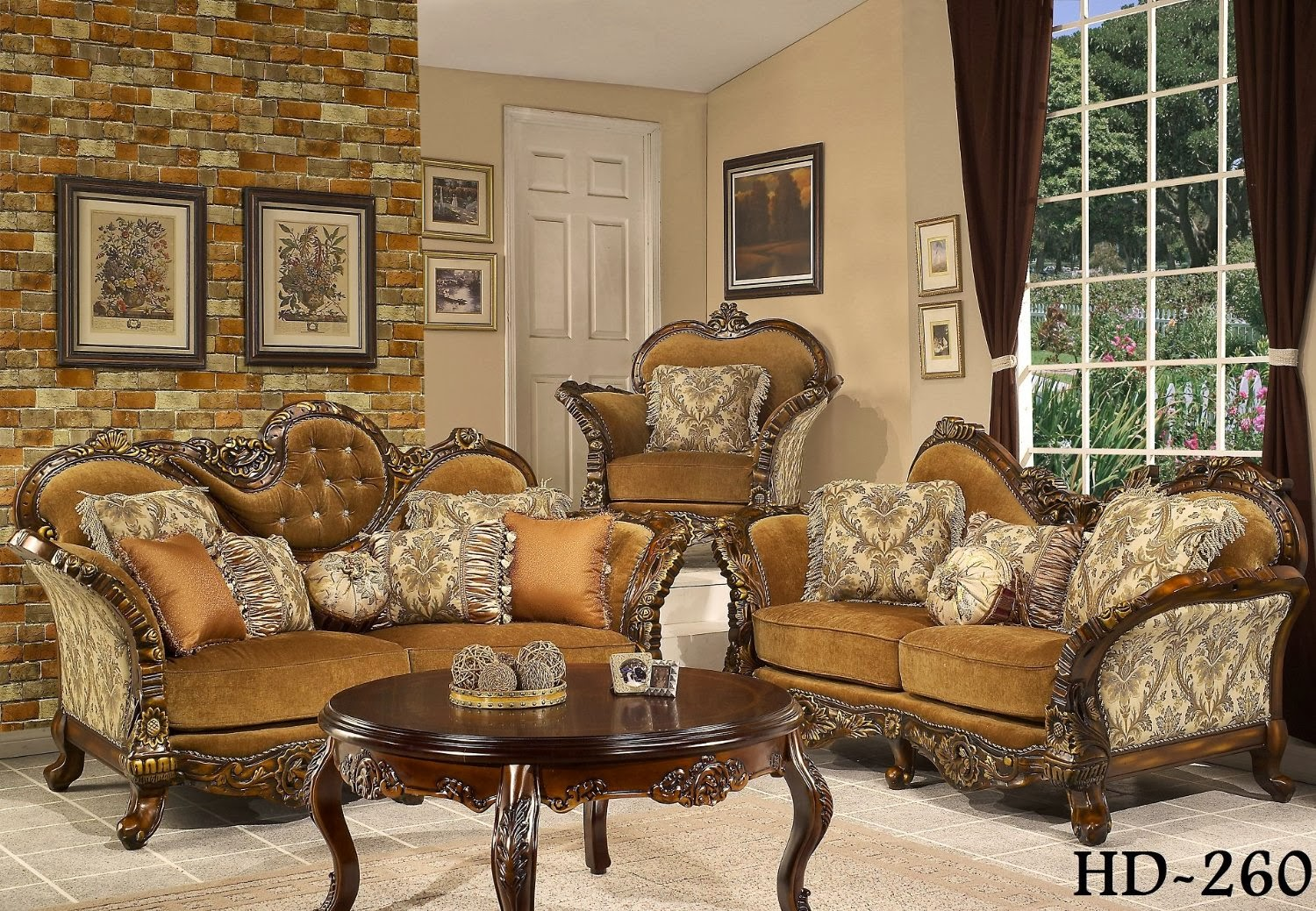 Antique victorian sofa set victorian sectional sofa - Elegant formal living room furniture ...
