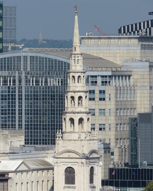 The spire of St Bride's Church, Fleet Street, City of London, London