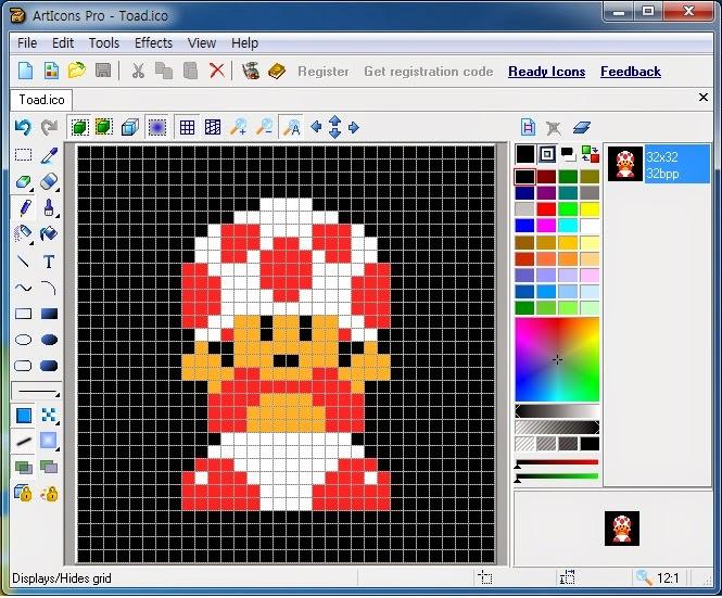 Studio 1902: Super Mario Bros - Toad Dot(Size 32X32)