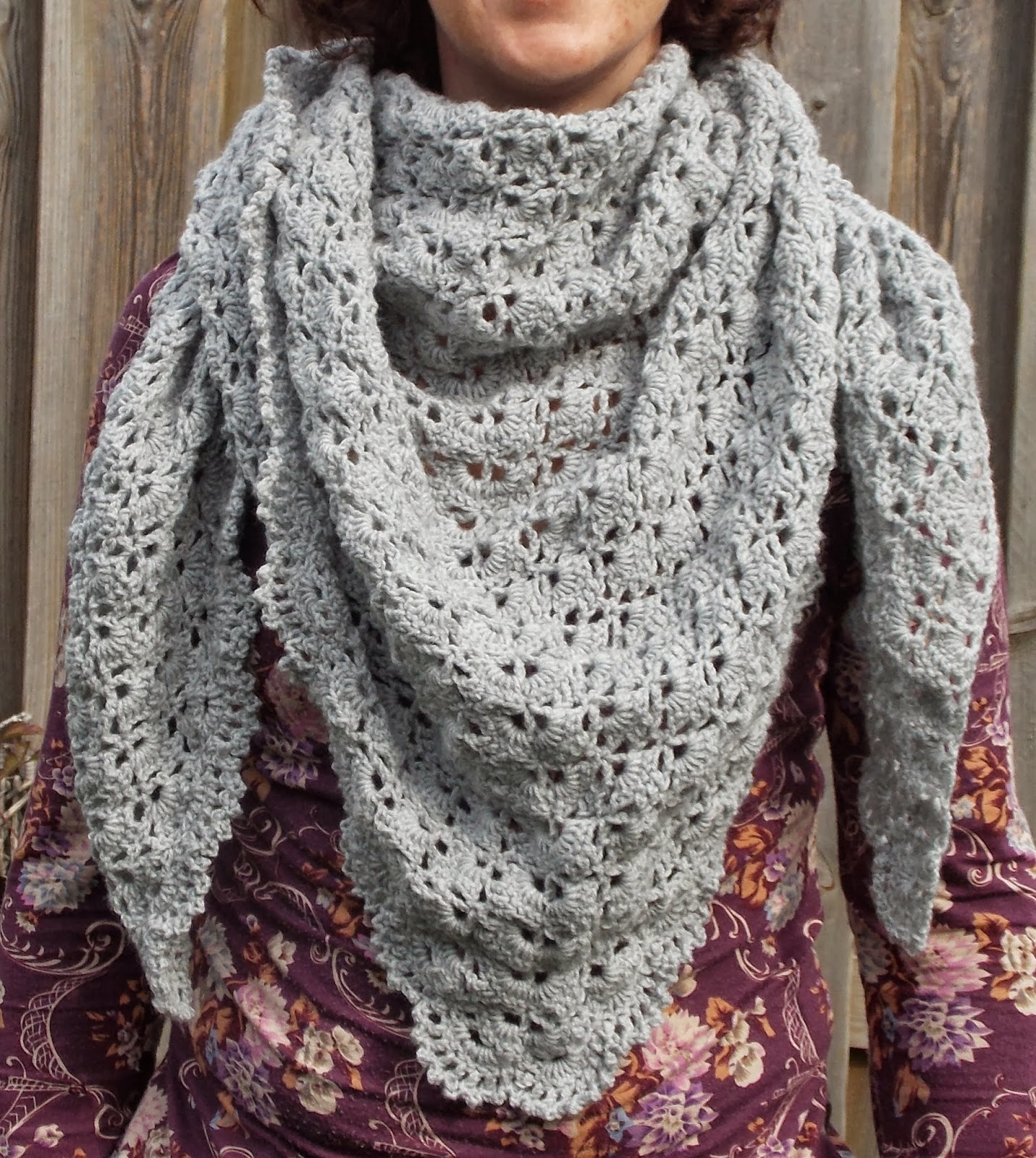 Renates Haken En Zo South Bay Shawlette Free Pattern Border