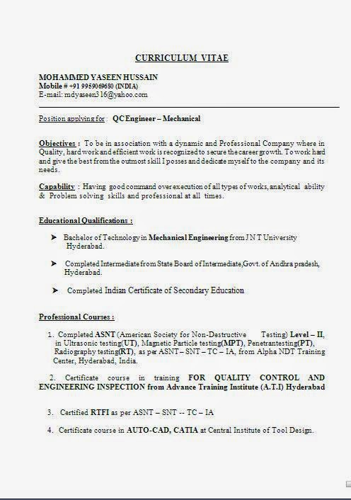 Awesome ... Ndt Level 2 Fresher Sle Resume Biodata Format In Word ...