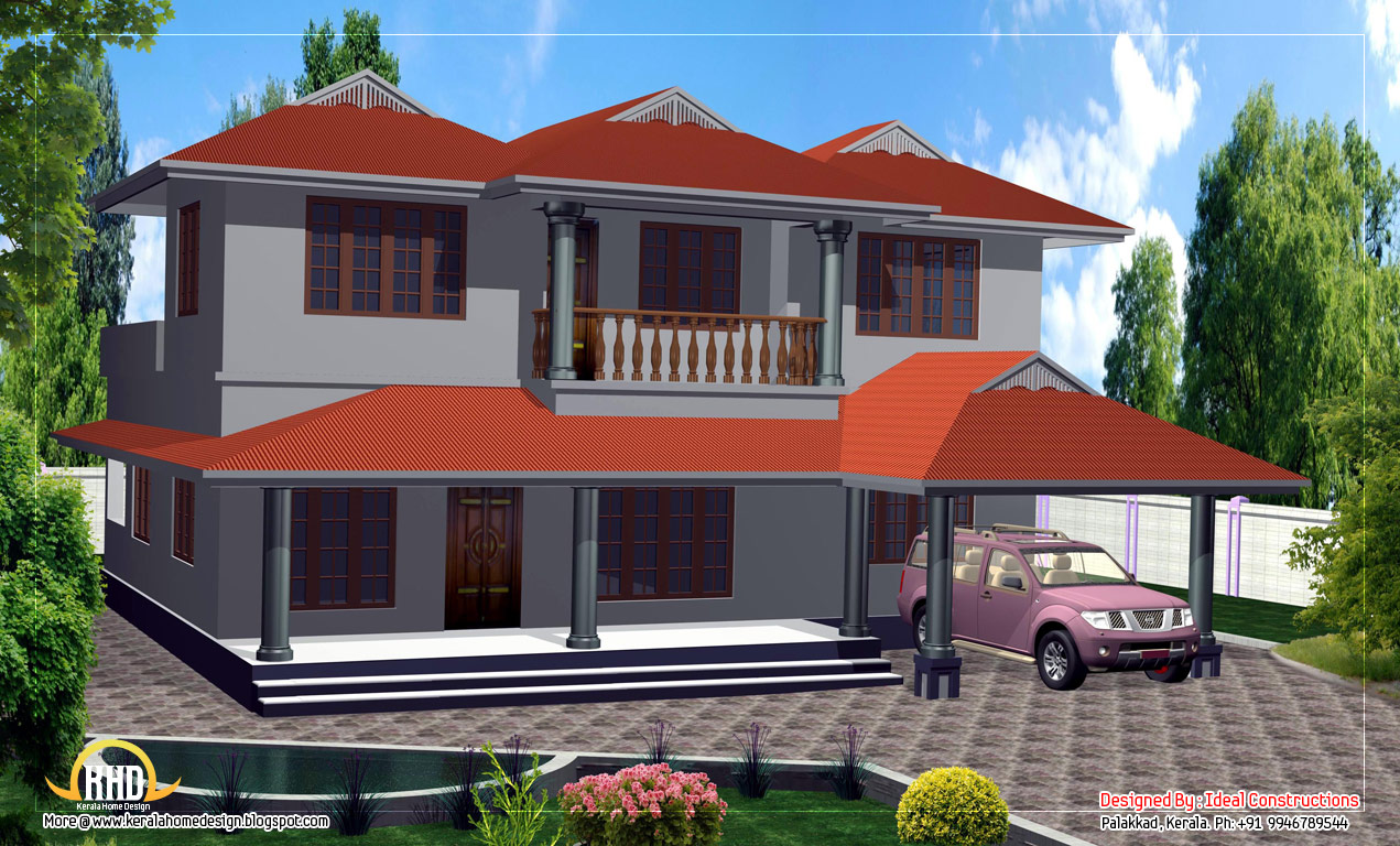 Duplex house design 2000 sq ft kerala home design for House plan 2000 sq ft india
