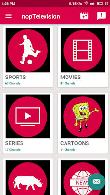 تطبيق Nop Television لمشاهدة القنوات المشفرة و متابعة المباريات للأندرويد