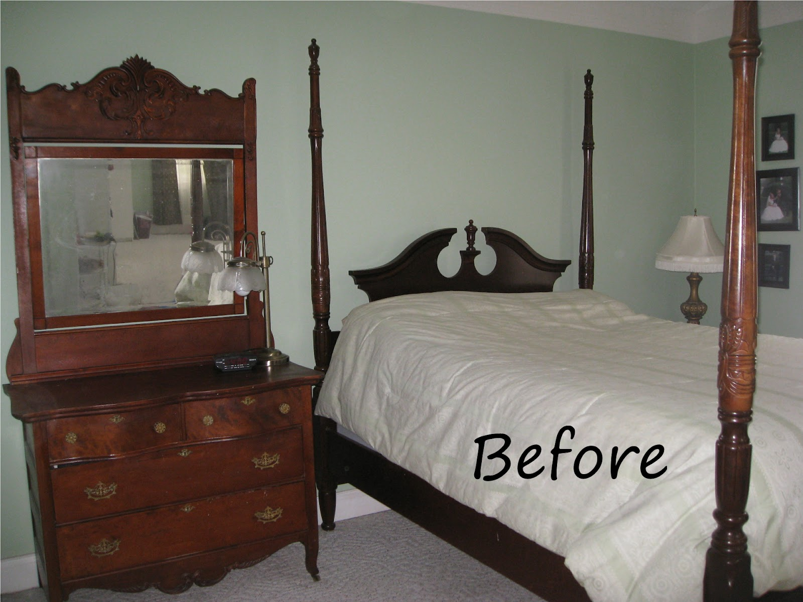 Four Poster Bed Cherry Finish Meets Shabby Chic