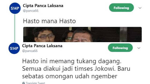 PD Bantah Demiz Jadi Jubir Jokowi, Cipta Panca: Hasto Ini Memang Tukang Dagang