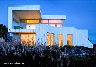 Casa moderna tipo villa estilo Contemporáneo