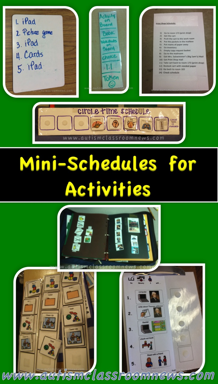 A Visual Guide To Different Types Of Cookies Infograph: Visual Schedule Series: Mini Schedules For Activities (and