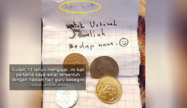 'Itu duit tabung saya, saya kumpul nak bagi pada ustazah'