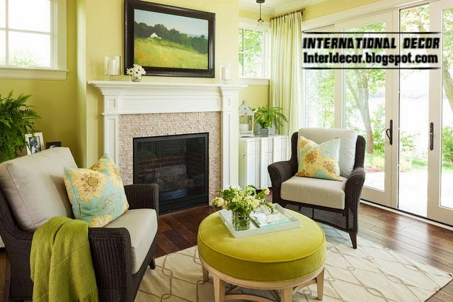 Ottoman and banquette, yellow lemon ottoman for living room