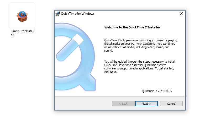 install quicktime on pc