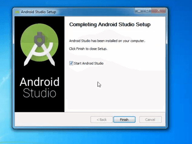Welcome to completion Android Studio Installation Screen.
