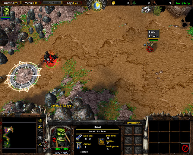 Chasing Visions Mission 1 | Thrall Screenshot | Warcraft 3: Reign of Chaos