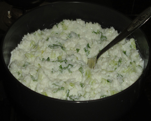 curd rice mixed