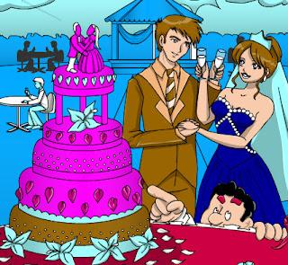 تلوين حفل زفاف وكيك