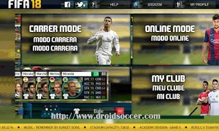 DLS 17 Mod FIFA 18 Apk + Data Obb