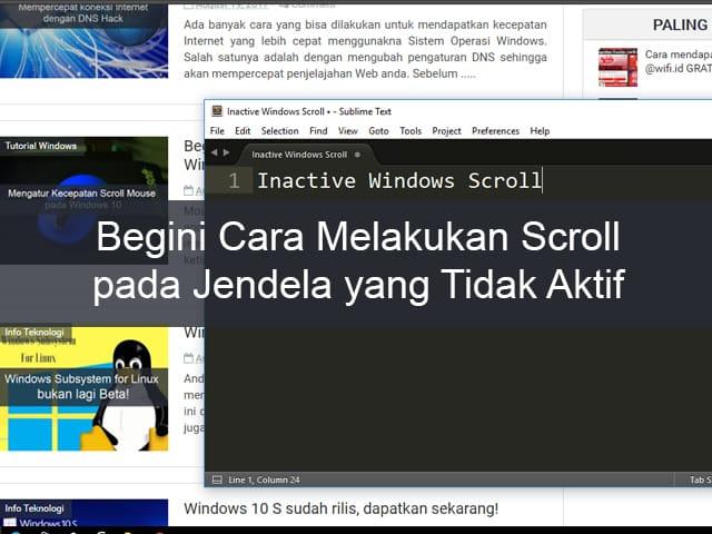 Scroll pada Jendela yang Tidak Aktif di Windows 10, Begini Caranya! 1