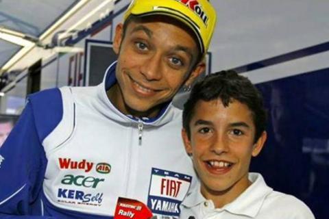 Foto Kenangan Rossi dan Marquez