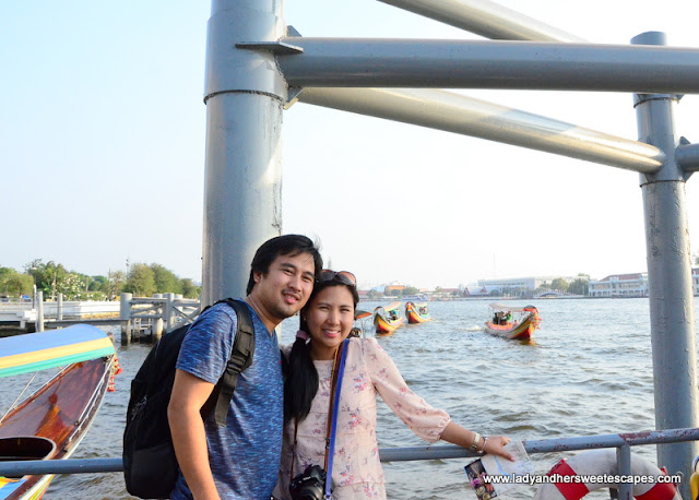 taking in the views at Chao Phraya river