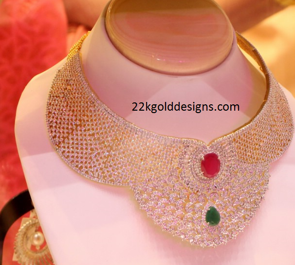 Huge Bridal Diamond Necklace Design
