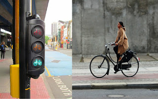 Safe bicycle riding in Europe under traffic light rules
