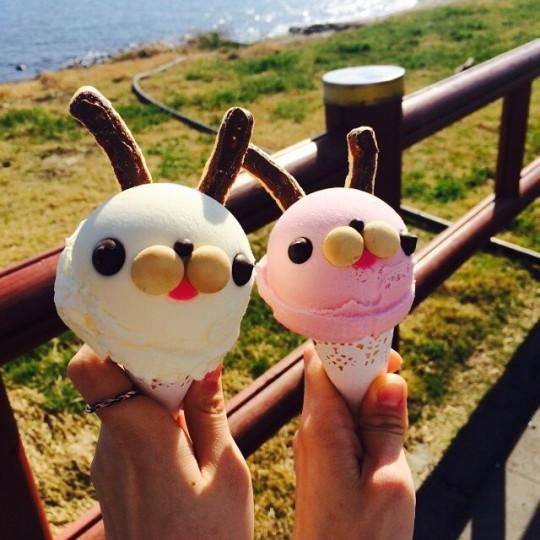 Seongsan Iichulbong Jeju Korea Chichi Pong Ice Cream Chichipong