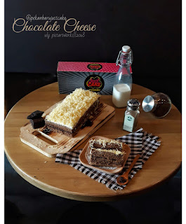 cake kekinian yang buat tebayang ya pekanbaru justcake, coklat keju, enak, lumer di lidah