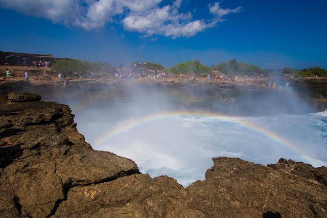 Rainbow at Devil's tears-Nusa Lembongan-Bali
