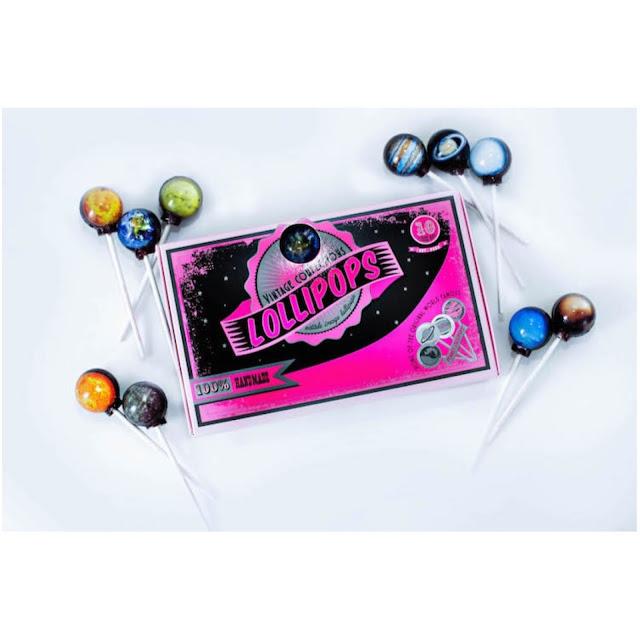 Vintage Confections' planet lollipops