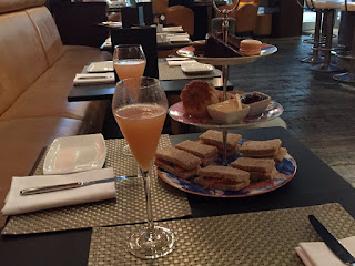Bellinis and afternoon tea.