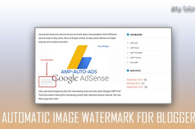 Create an Automatic Watermark on Blogger Image Articles