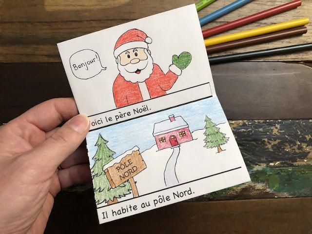 Petit livret de Noël à illustrer #aimlang