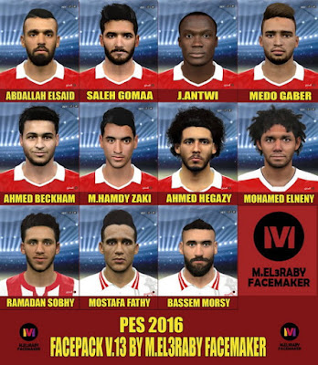 PES 2016 Face Pack v13 by Mohamed El3Raby Facemaker