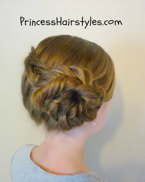 fishtail braid wrapped bun