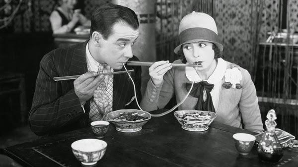 vintage photo of spaghetti eaters from spiritual mechanics of diabetes blog