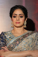Sri Devi in designer saree stunning beauty at the launch of MOM movie Trailer~  Exclusive 065.JPG