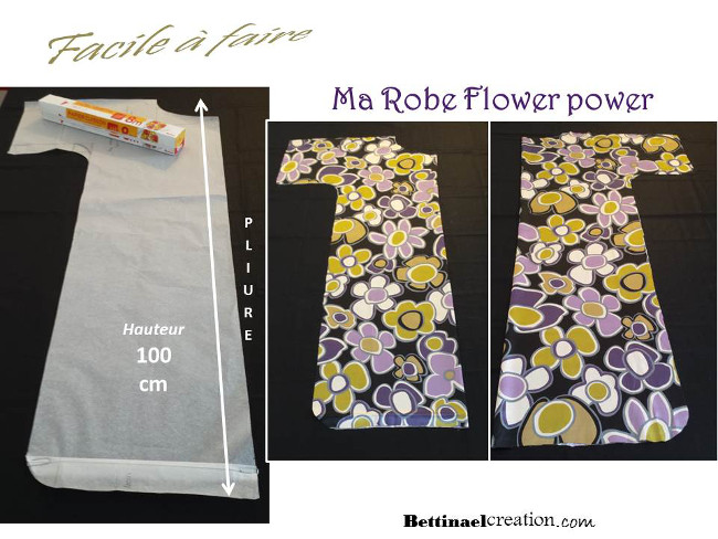 Happy diy ma robe flower power chic et facile faire - Creation facile a faire ...