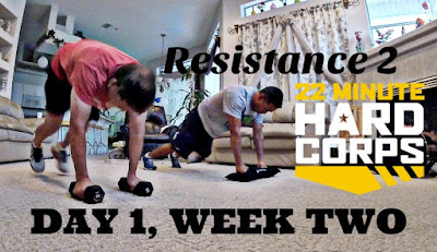 Day 1 Week Two 22 Minute Hard Corps Challenge Resistance 2 Workout, Sandbag Workout, 22 Minute Hard Corps Challenge Pack, Free Beachbody Coaching