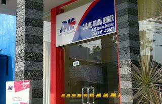 Daftar agen JNE di Jember, Jawa Timur.