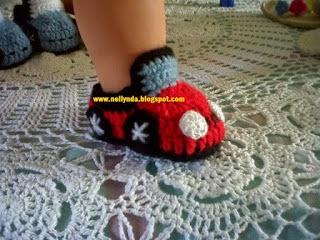 Autitos Tejidos Al Crochet Para Decoración Infantil Y Otros
