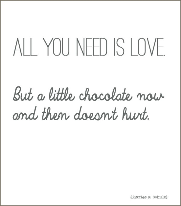 Quote all you need is chocolate wonderful wednesday words